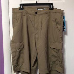 Lee dungaree shorts
